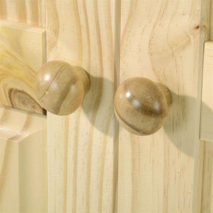 Kleiderschrank 2-türig aus Kiefer in natur