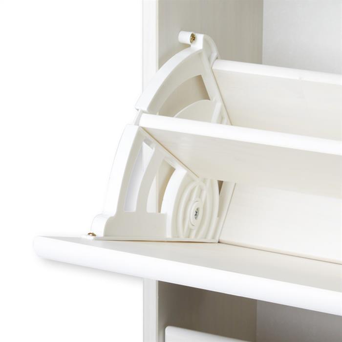 Schuhkipper mit 4 Kippfächern in weiß