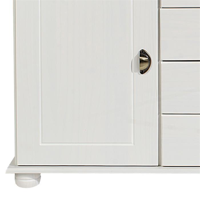 Apothekerkommode 2 Türen und 4 Schubladen, weiß