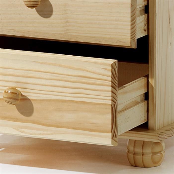 Kommode BERN natur lackiert, mit 4 Schubladen