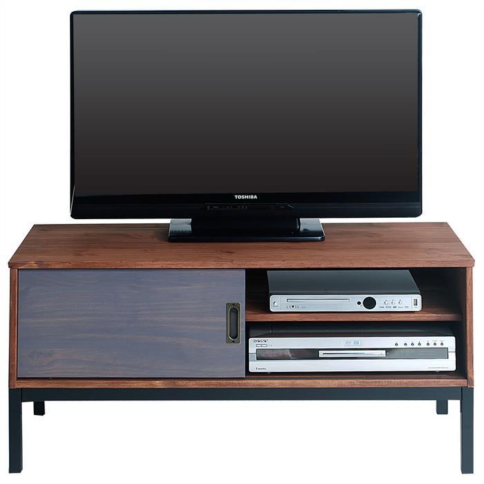 tv lowboard mit 1 schiebet r braun gebeizt caro m bel. Black Bedroom Furniture Sets. Home Design Ideas