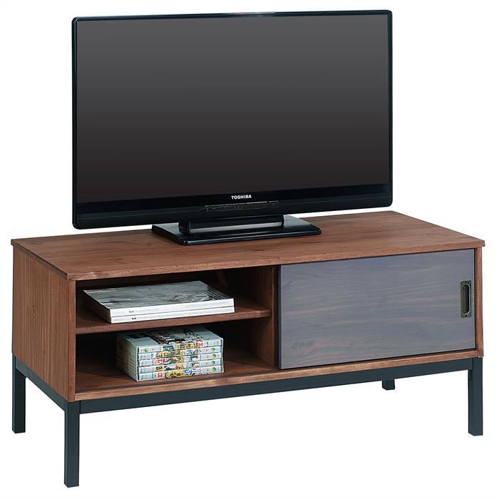 TV Lowboard mit 1 Schiebetür, braun gebeizt