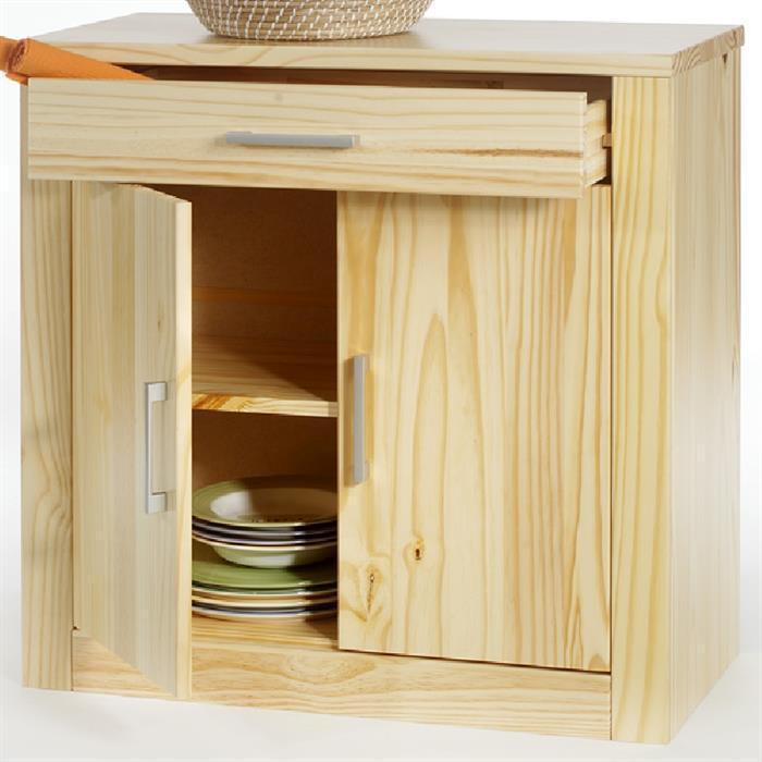 Kommode, natur, 2 Türen und 1 Schublade