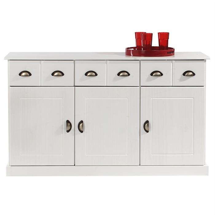 Anrichte 3 Schubladen 3 Türen in weiß
