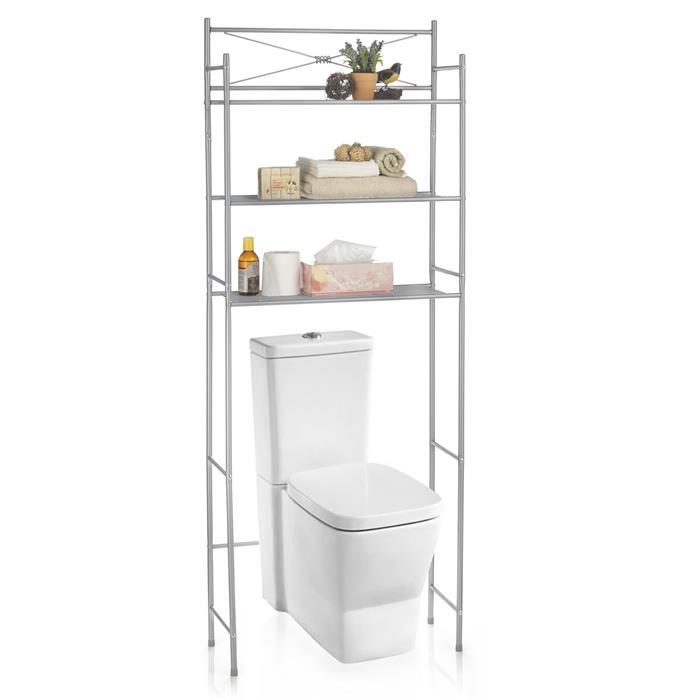 Toiletten Waschmaschinen Regal MARSA mit 3 Ablagen in grau