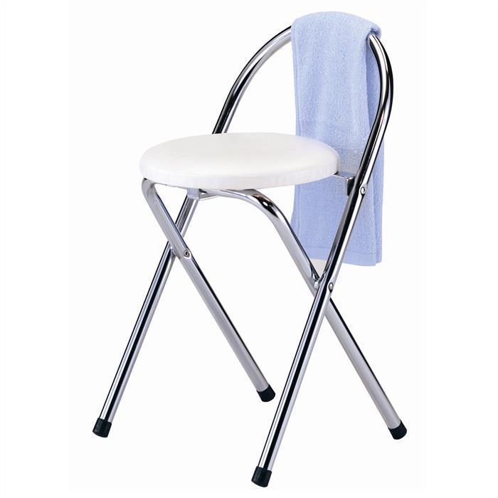 Klapphocker mit 46 cm Sitzhöhe in weiß