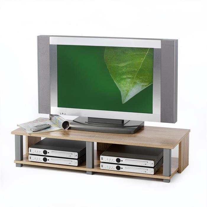TV-Lowboard in Sonoma Eiche, 2 Ablagen