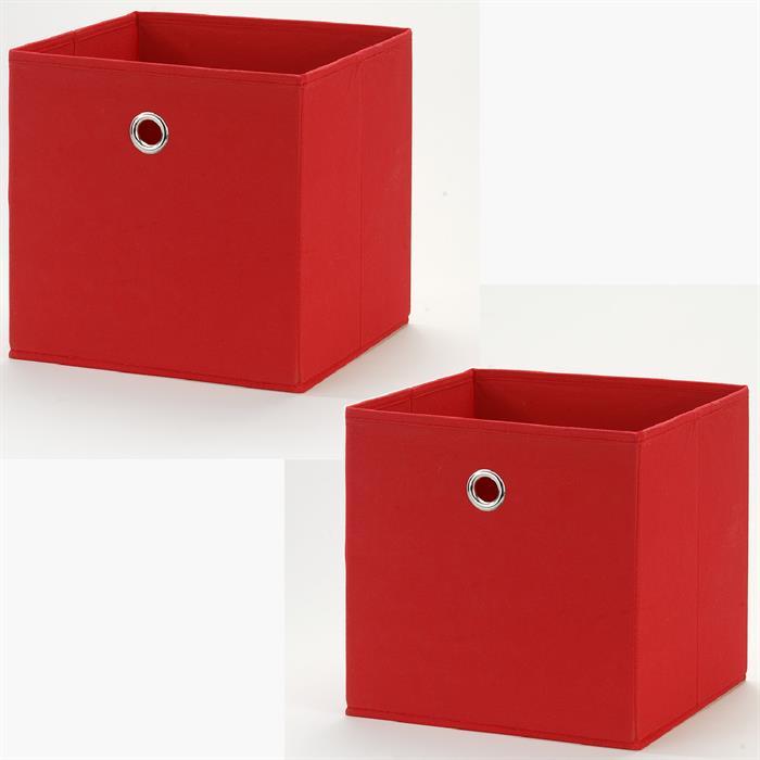 Stoffbox im 2er Set in rot