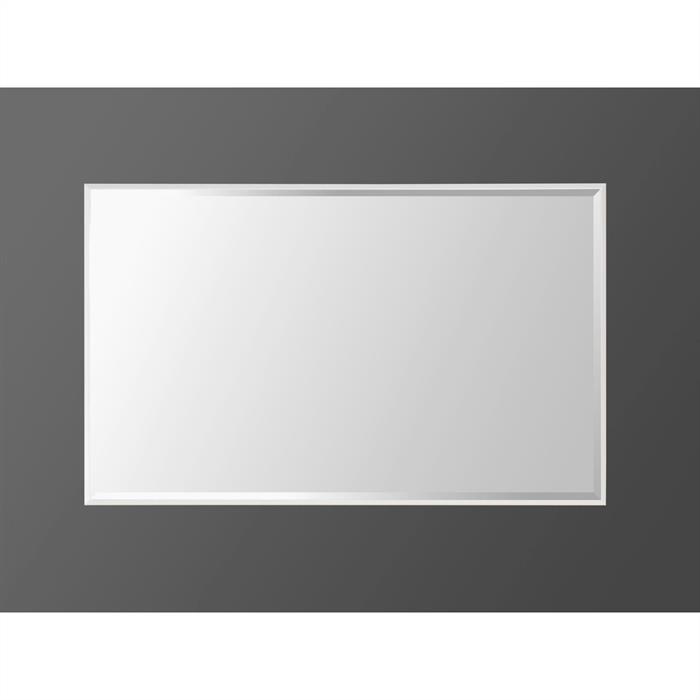 Spiegel in weiß mit Facettenschliff