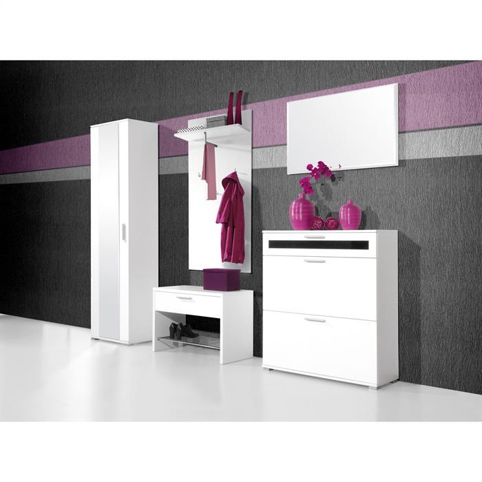 spiegel in wei mit facettenschliff caro m bel. Black Bedroom Furniture Sets. Home Design Ideas