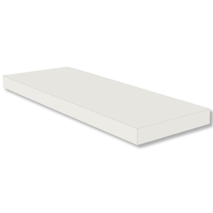 Wandsteckboard 60 cm in weiß matt