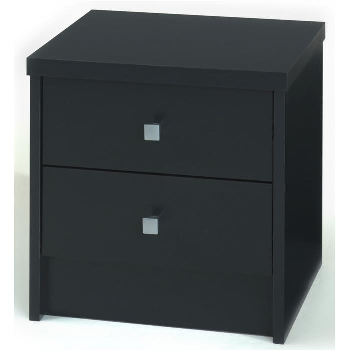 Nachttisch ONUR mit 2 Schubladen in schwarz