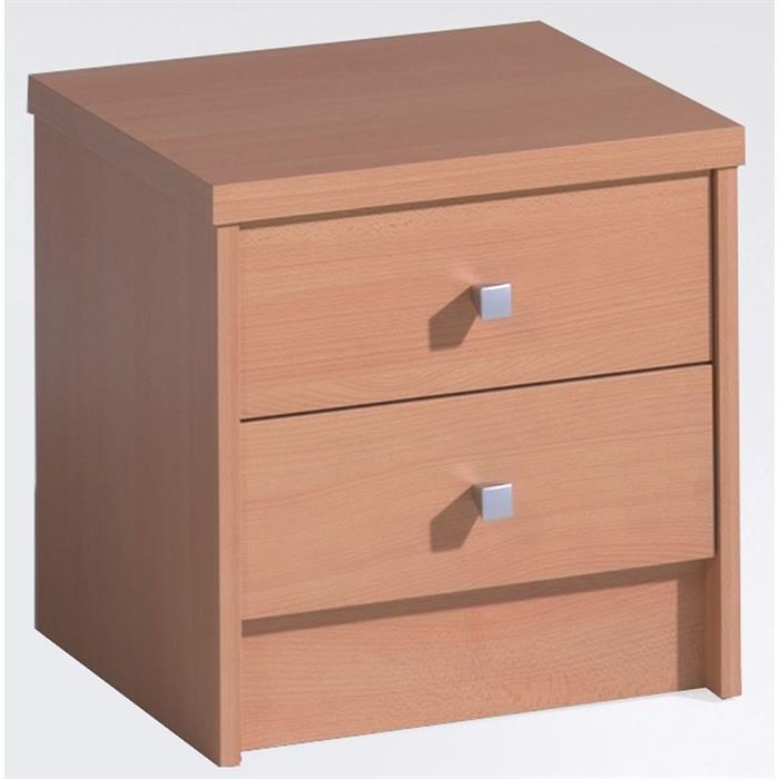 Nachttisch ONUR mit 2 Schubladen in buche