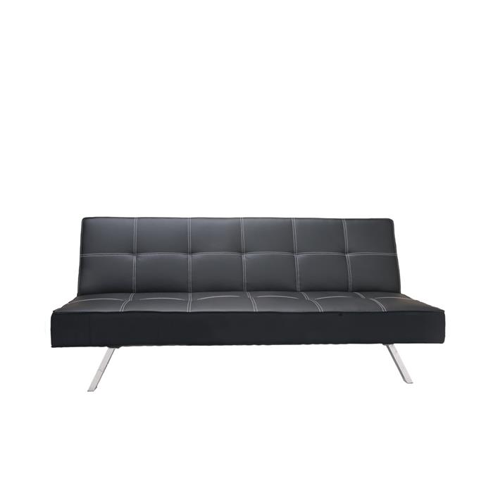 Modernes Schlafsofa in schwarz, 2-Sitzer