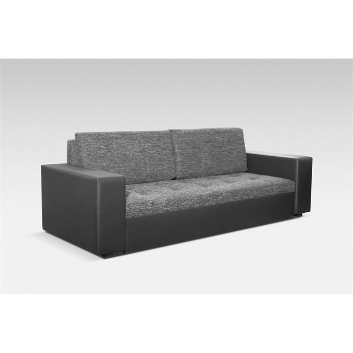 Schlafsofa ESME 3-Sitzer in schwarz