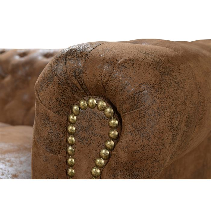 Chesterfield Sofa GRACE, 3-Sitzer mit Dekonägeln