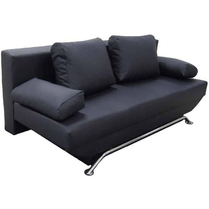 Schlafcouch LEVI mit Bettkasten in schwarz