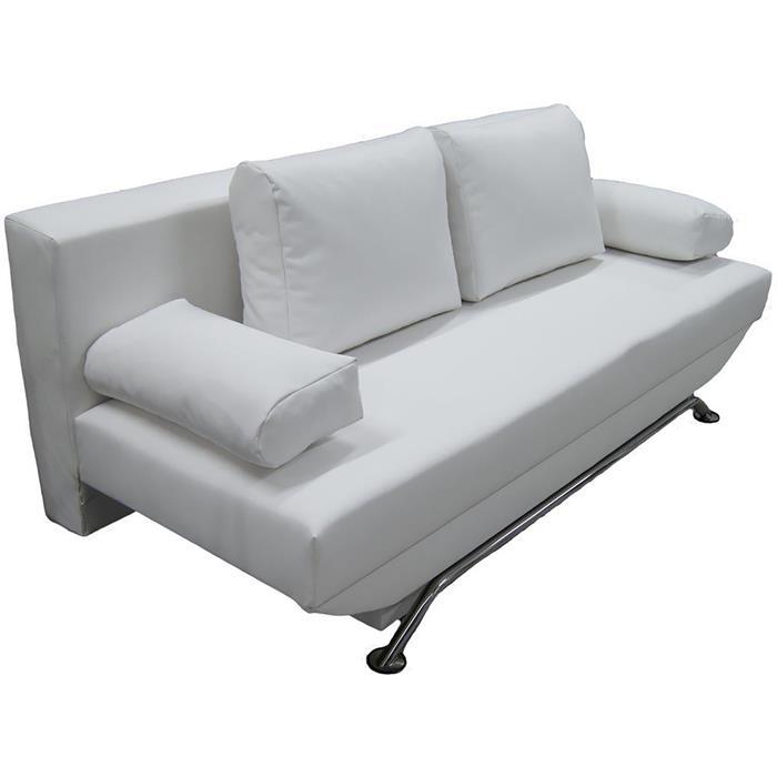 Schlafcouch LEVI mit Bettkasten in weiß