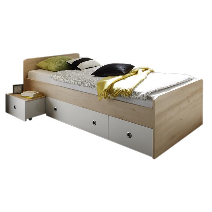 Funktionsbett SUNNY 90x200 mit 3 Schubladen