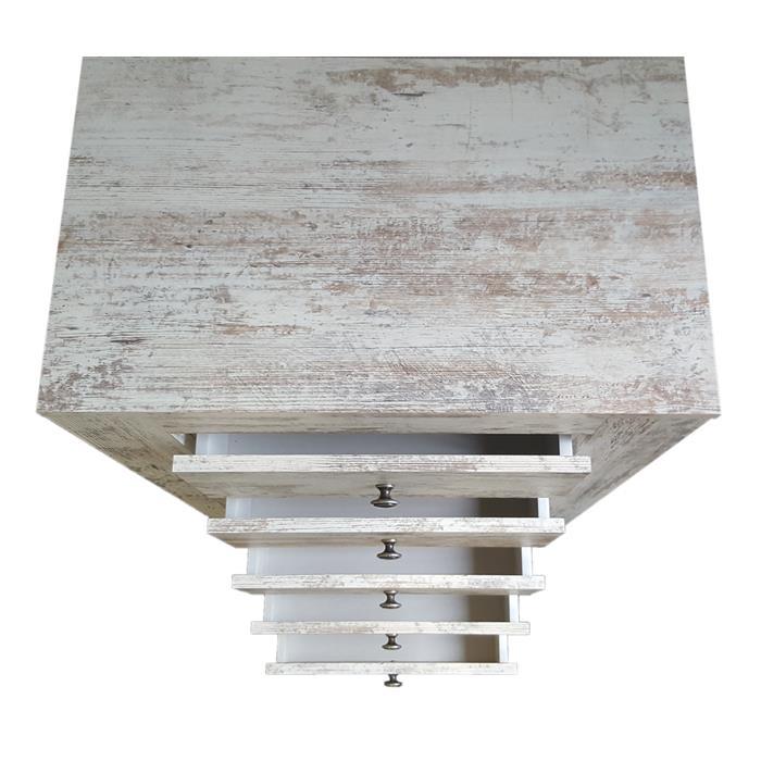 Shabby Chic Kommode LIVIO 58 cm breit mit 5 Schubladen