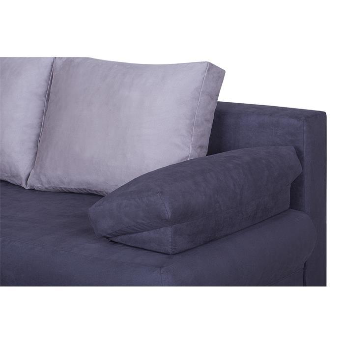 Schlafsofa MILA in schwarz/grau, Bettkasten