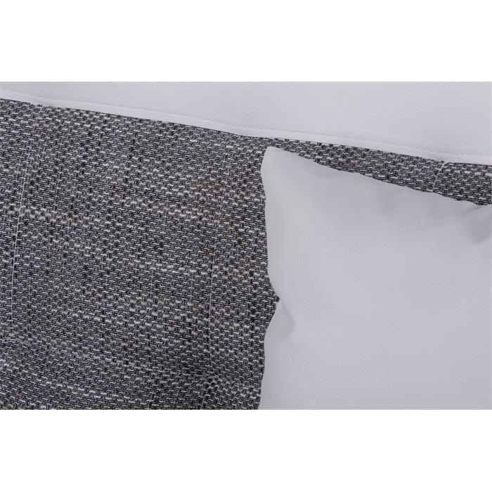 Schlafsofa STELLA 3-Sitzer in weiß/grau