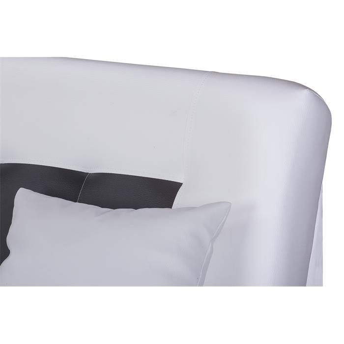 Schlafsofa STELLA 3-Sitzer, weiß/schwarz