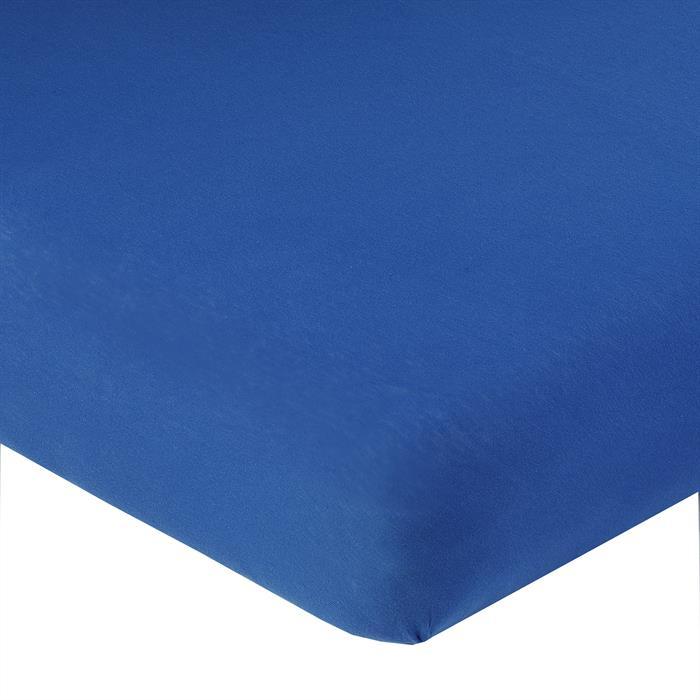Jersey Spannbettlaken PIA, 90x200 cm royalblau