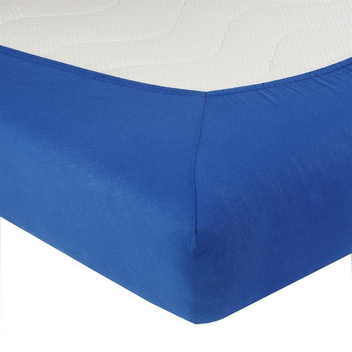 Jersey Spannbettlaken PIA, 140x200 cm in royalblau