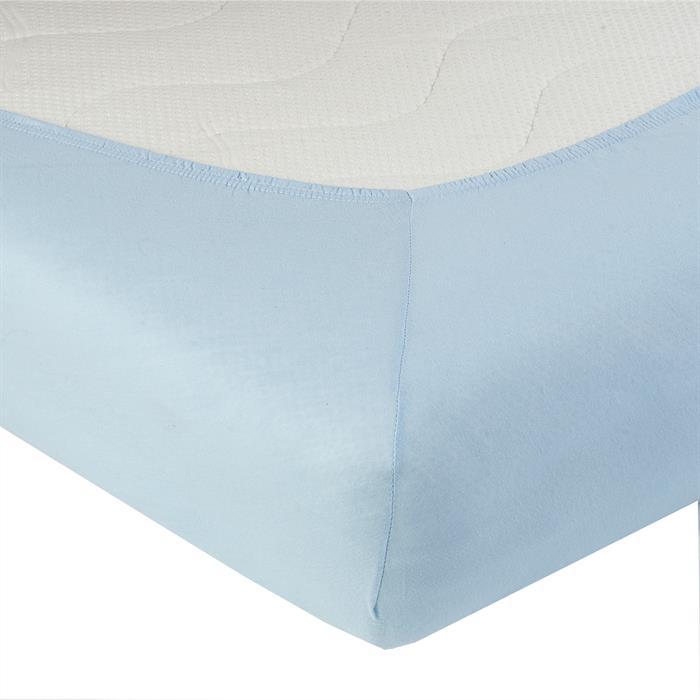 Jersey Spannbettlaken PIA, 90x200 cm hellblau