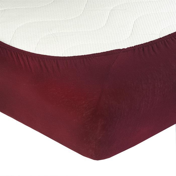 Jersey Spannbettlaken PIA, 90x200 cm weinrot