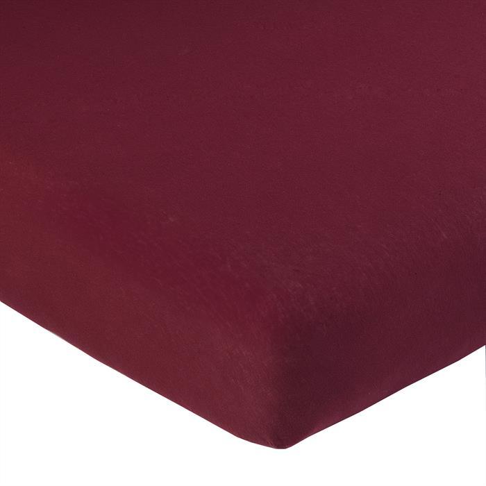 Jersey Spannbettlaken PIA, 120x200 cm weinrot