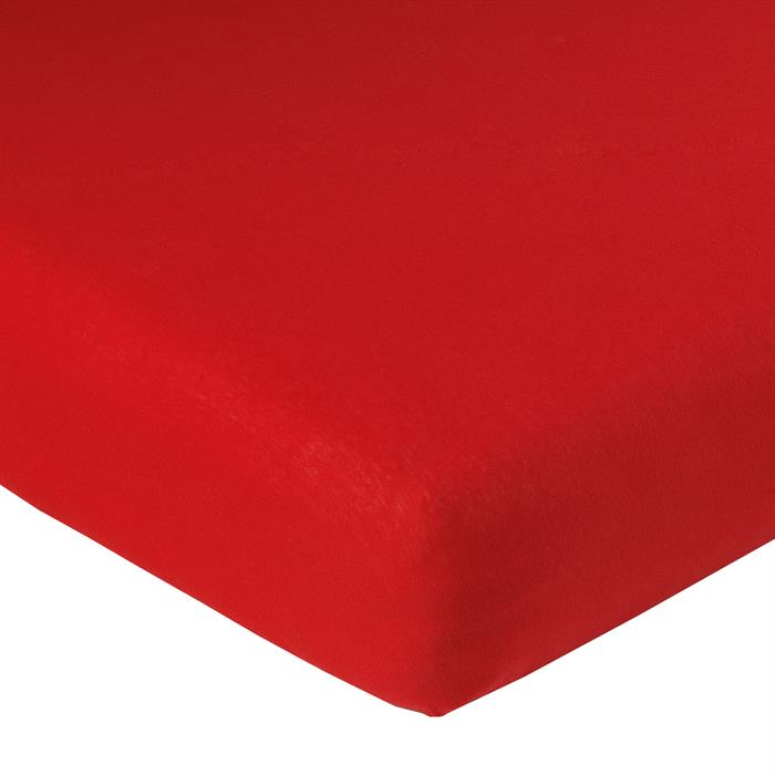 Jersey Spannbettlaken PIA, 120x200 cm rot