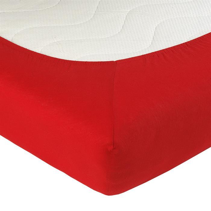 Jersey Spannbettlaken PIA, 140x200 cm in rot