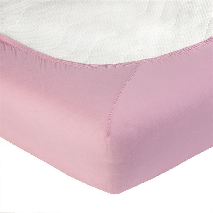 Jersey Spannbettlaken PIA, 180x200 cm rosa