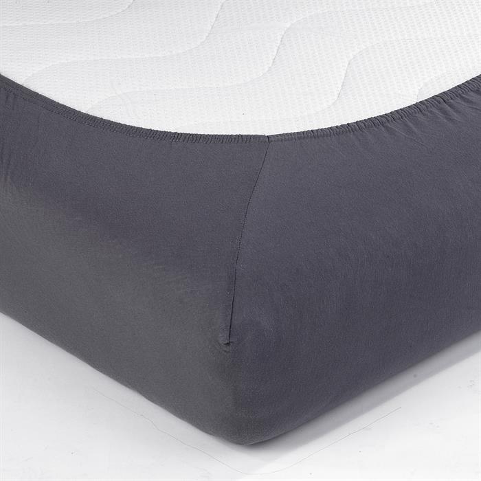 Jersey Spannbettlaken PIA, 120x200 cm anthrazit