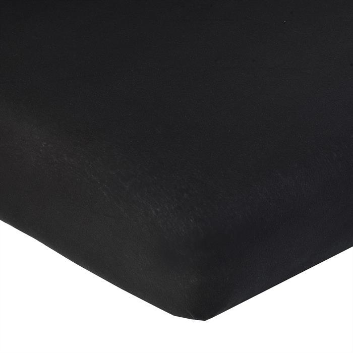 Jersey Spannbettlaken PIA, 90x200 cm schwarz