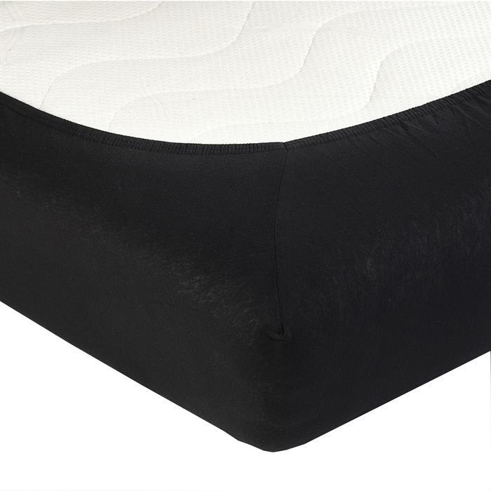 Jersey Spannbettlaken PIA, 120x200 cm schwarz