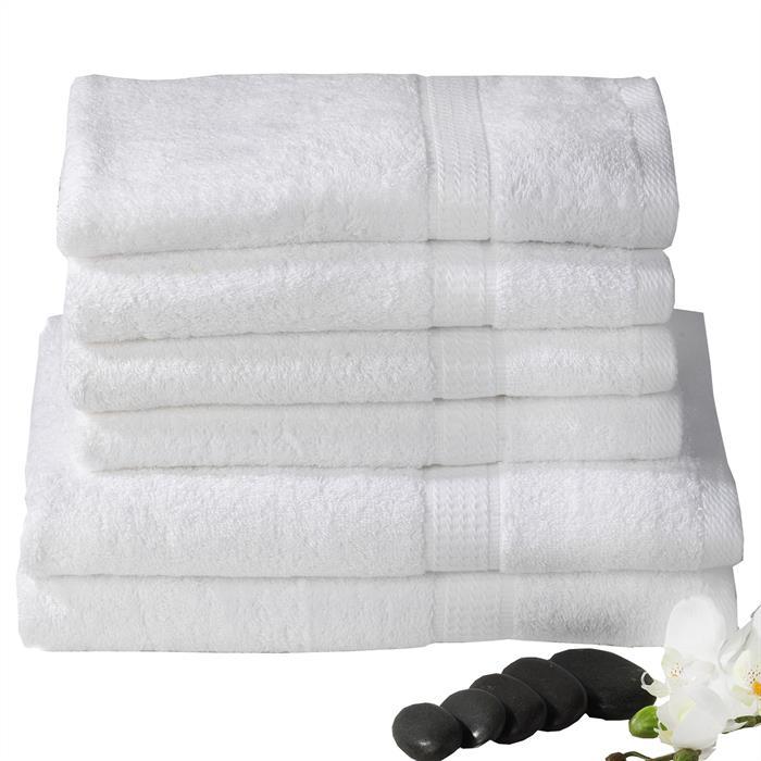 6-tlg. Handtuch & Duschtuch Set PACO in weiß