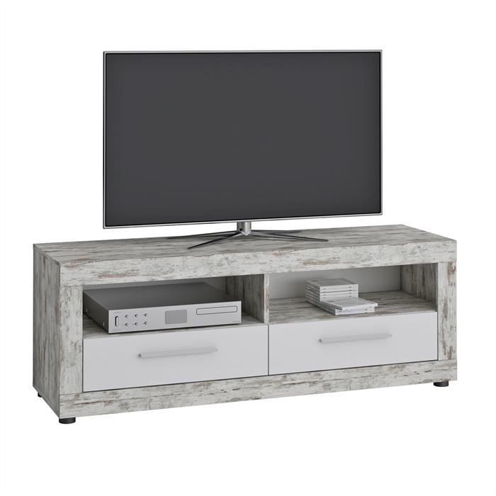 TV Lowboard VIEW in Shabby Chic/weiß