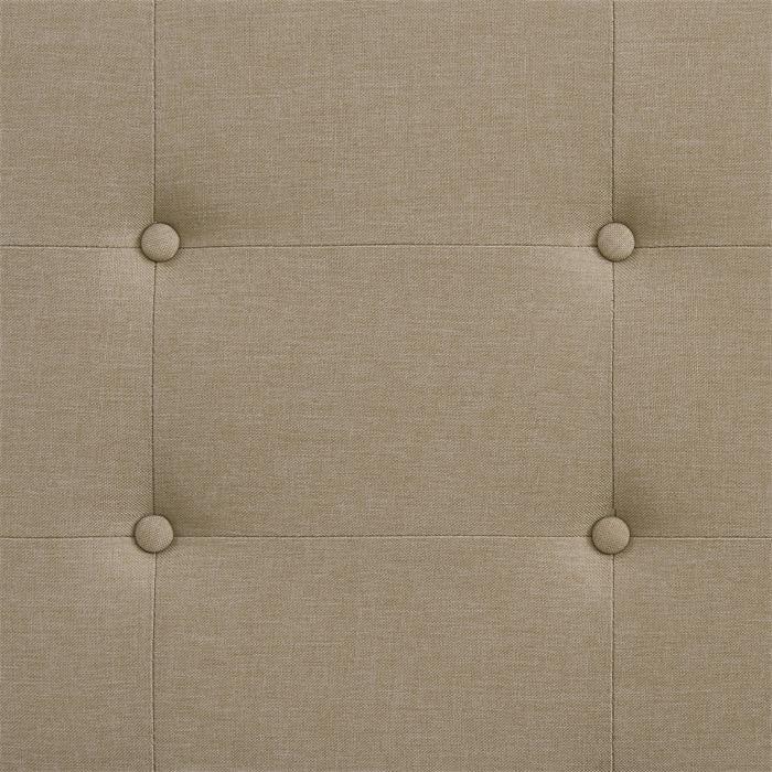 Polsterbett ADELE 140x200 cm, inkl. Lattenrost in beige