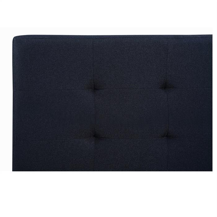 Polsterbett CLAIRE 140x200 cm in schwarz