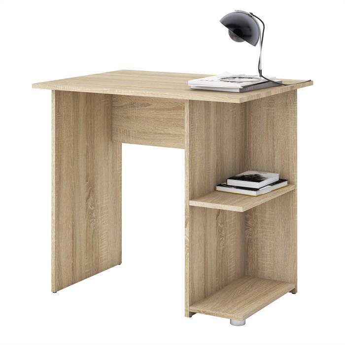 Schreibtisch KUBA in Sonoma Eiche mit 2 Ablagen