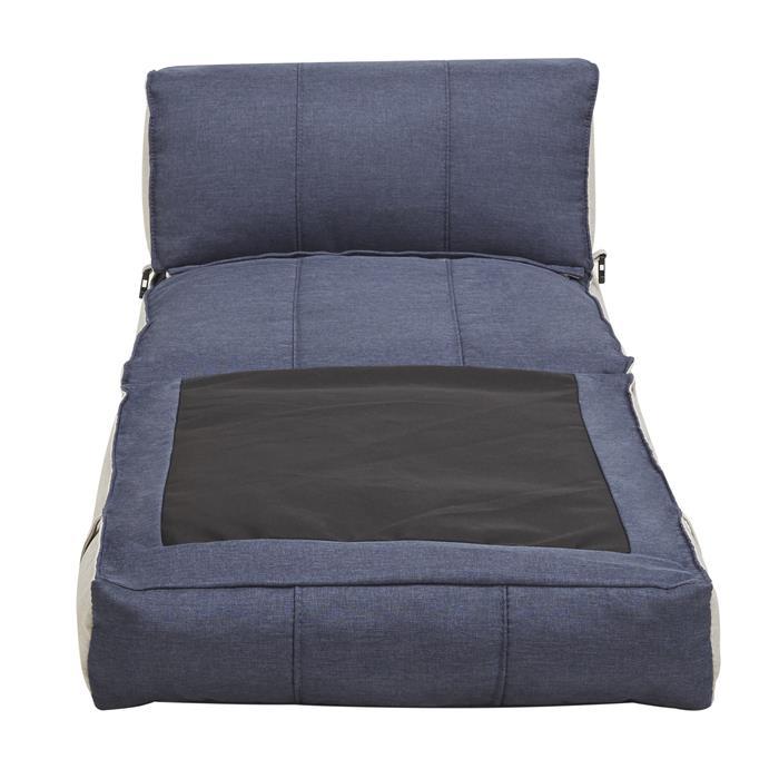 Schlafsessel Gästebett TOGO in blau/hellgrau