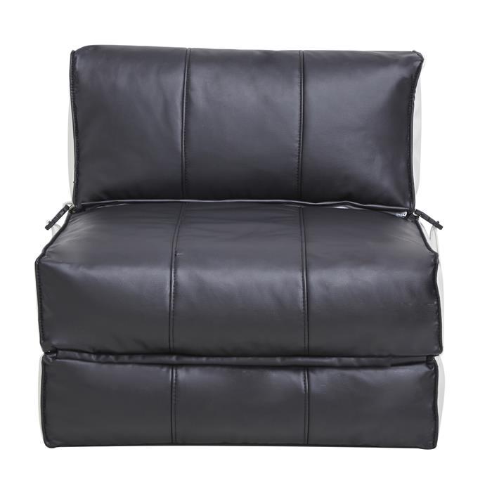 Schlafsessel Gästebett TOGO, Kunstleder in schwarz/weiß
