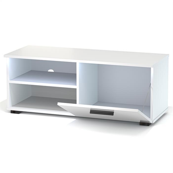 TV-Lowboard MALIBU in weiß Hochglanz mit LED-Beleuchtung