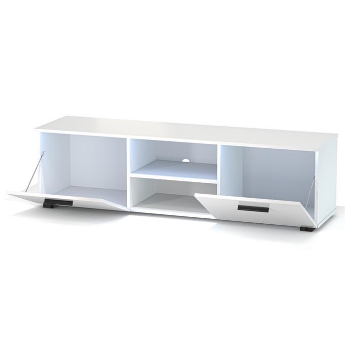 TV-Lowboard MALIBU, weiß Hochglanz mit LED Beleuchtung