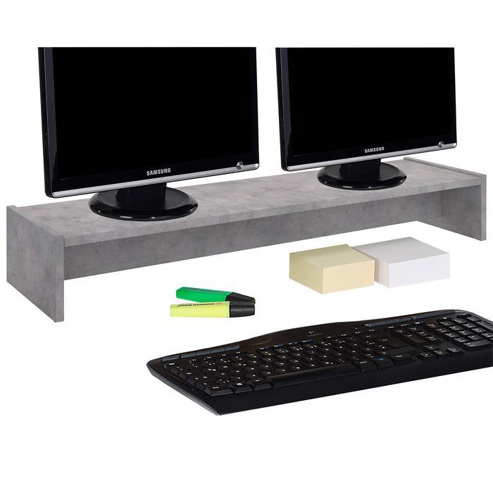 Monitorständer ZOOM 100 x 15 x 27 cm in Betonoptik