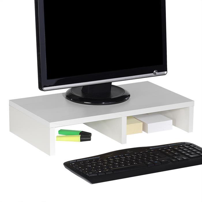Bildschirmaufsatz MONITOR in weiß 50 cm breit