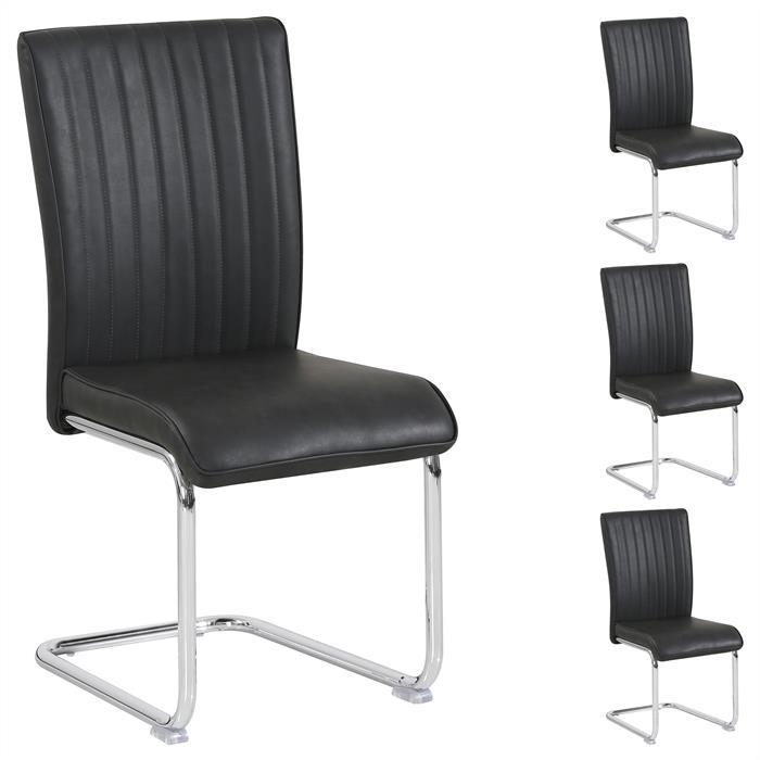 Esszimmerstuhl RIVAS im 4er Set in schwarz
